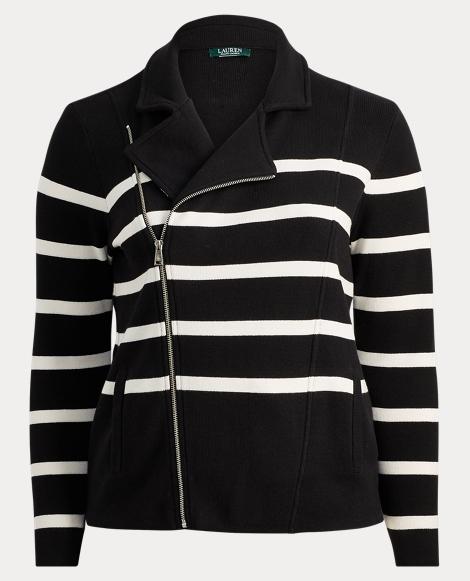 Striped Cotton Full-Zip Jacket