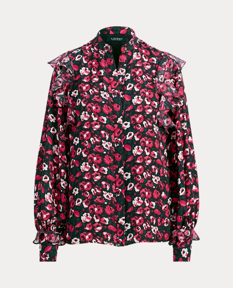 Floral Ruffled Georgette Shirt