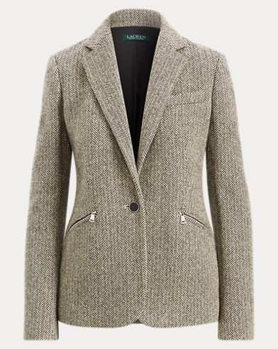 Herringbone Tweed Blazer