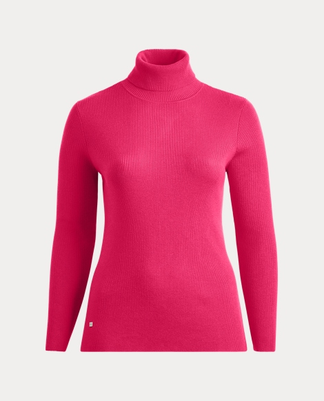 Stretch Cotton Turtleneck