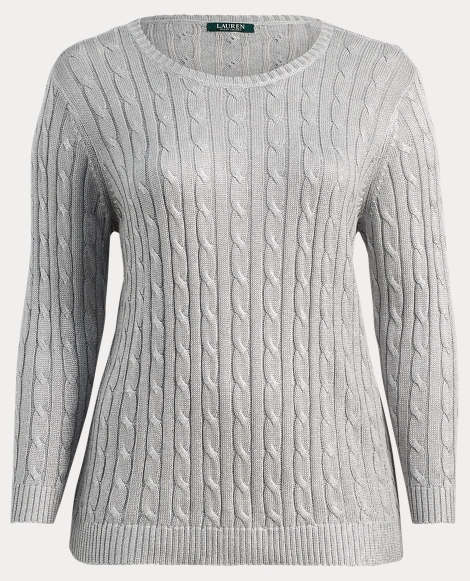 Cable Cotton-Blend Sweater