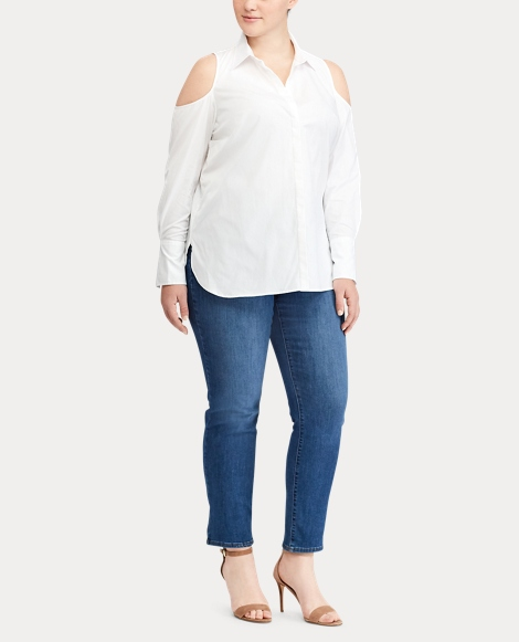 Cotton Cold-Shoulder Shirt