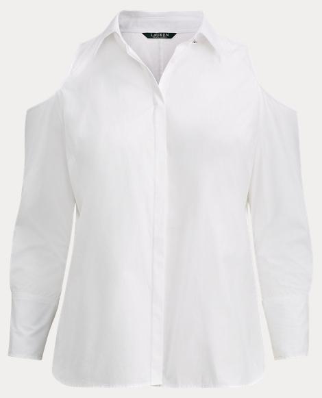 Cotton Cold-Shoulder Shirt