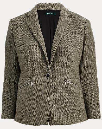 Herringbone Tweed Blazer