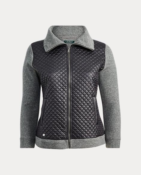 Fleece Quilted Zip Jacket