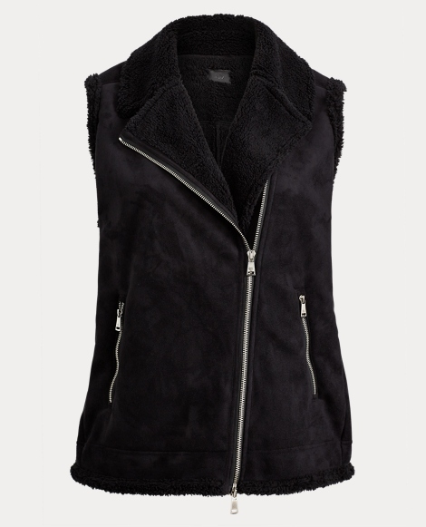 Faux-Shearling Zip Vest