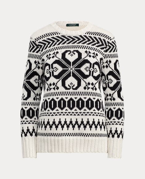 Cotton-Blend Crewneck Sweater