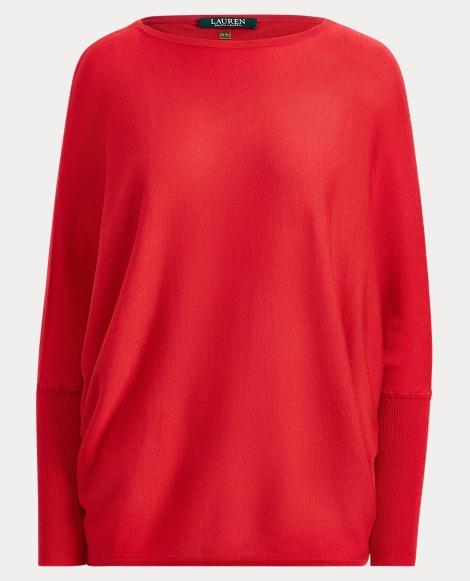 Silk-Blend Dolman Sweater