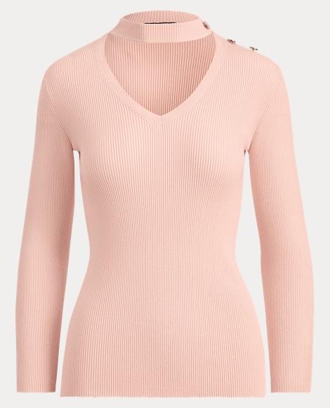 Mockneck Cutout Sweater