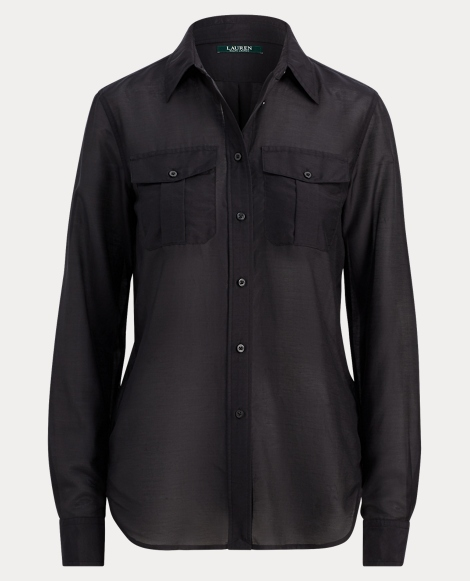 Cotton-Silk-Voile Shirt