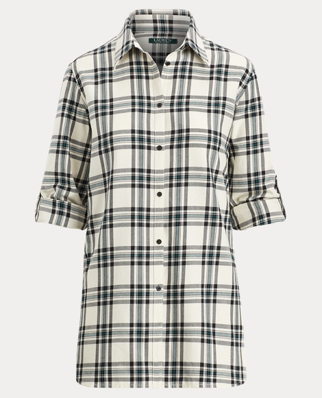 Plaid Twill Button-Down Shirt