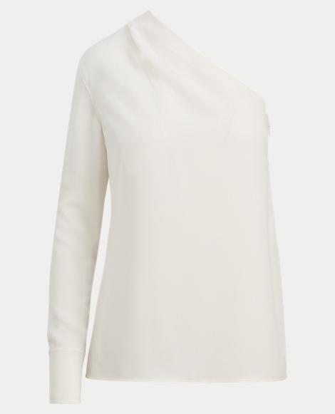 Georgette One-Shoulder Blouse