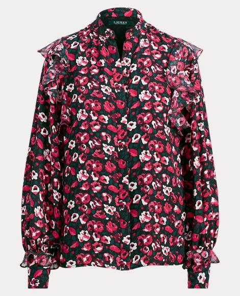 Floral Ruffled Georgette Top