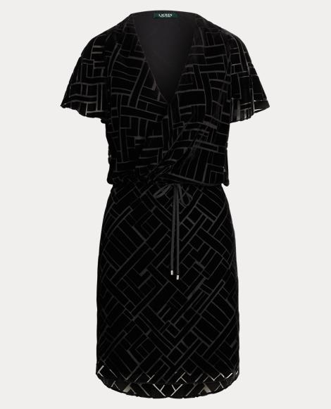 Art Deco Burn-Out Velvet Dress