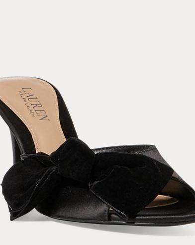 Genevie Velvet-Satin Sandal