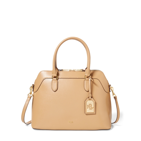 Saffiano Leather Nora Satchel by Ralph Lauren