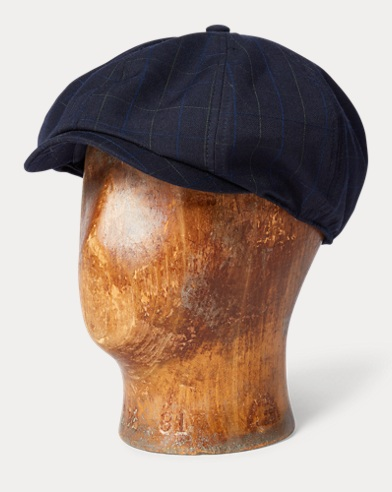 Windowpane Wool Newsboy Cap