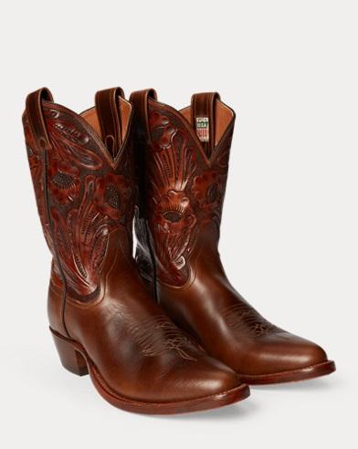 Plainview Leather Cowboy Boot