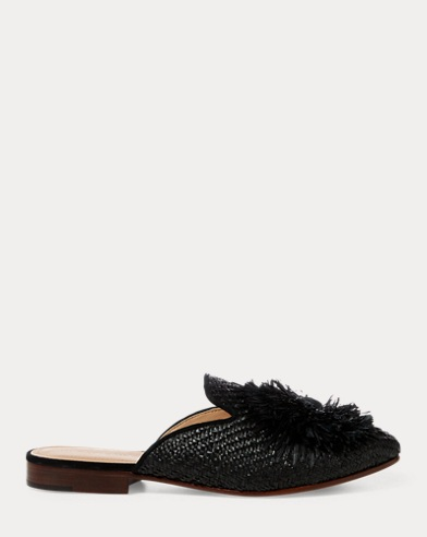 Callie Raffia Smoking Mule