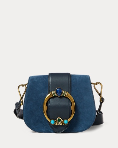 Jeweled Suede Lennox Bag