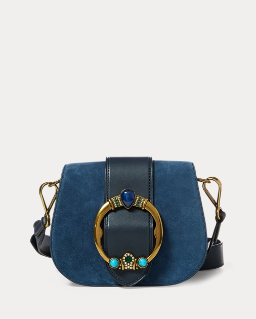 Jeweled Suede Lennox Bag by Ralph Lauren
