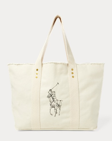 Frayed Canvas Large Tote