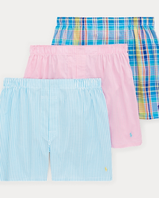 Woven Cotton Boxer 3 Pack by Ralph Lauren