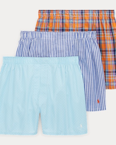 Woven Cotton Boxer 3-Pack