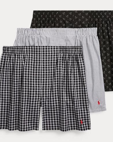 Woven Cotton Boxer 3-Pack