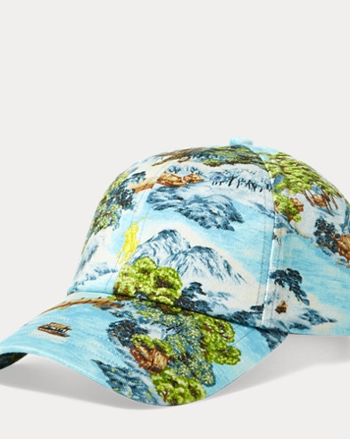 Tropical Chino Baseball Cap