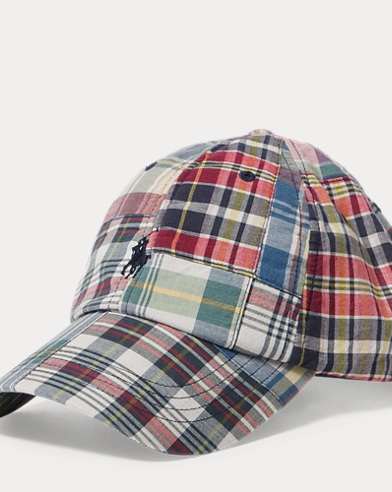 Patchwork Madras Baseball Cap