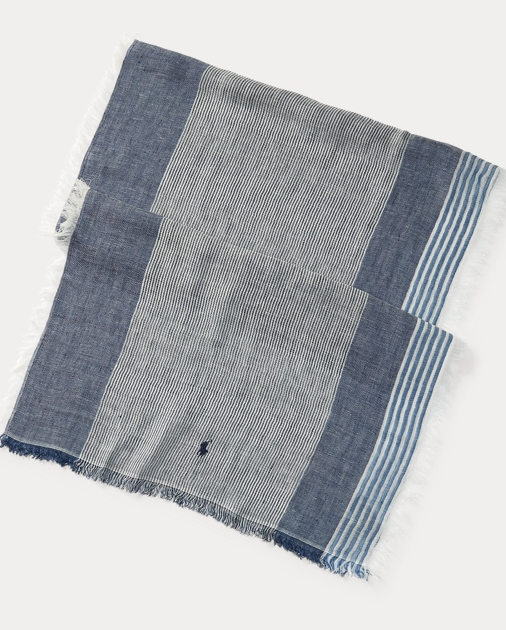 Striped Linen Scarf by Ralph Lauren