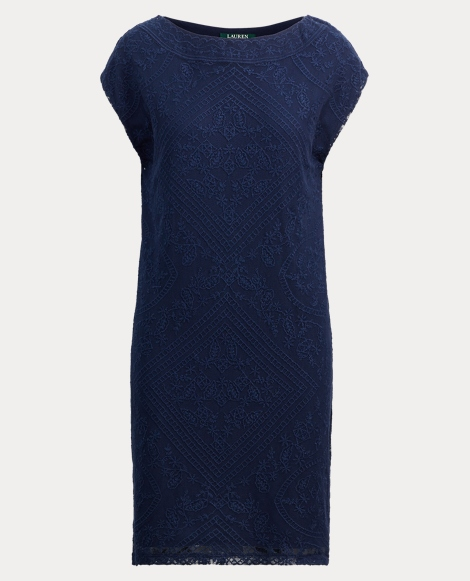 Cotton Mesh Shift Dress