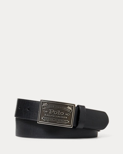 Polo Metal Plaque Buckle Belt