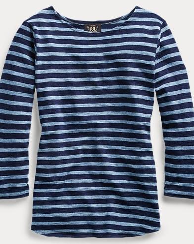 Striped Indigo Cotton Shirt