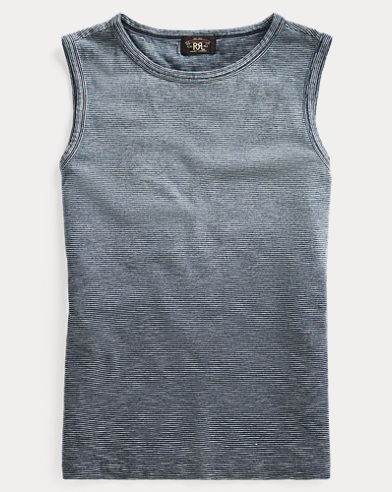 Indigo Cotton Jersey Tank