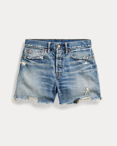 Vintage Straight Cutoff Short