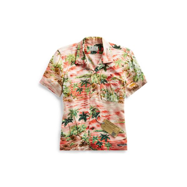 Ralph Lauren Hawaiian-Print Camp Shirt Rl 996 Coral Multi 1