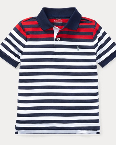 Striped Performance Lisle Polo