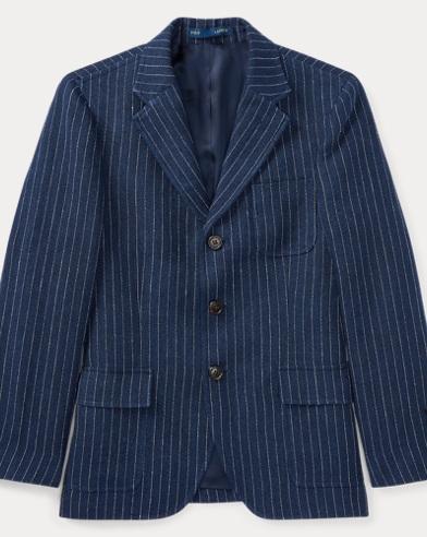 Pinstripe Linen Sport Coat