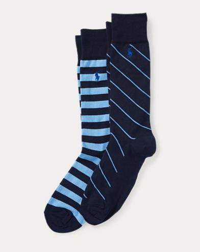 Striped Trouser Sock 2-Pack