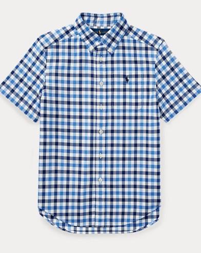 Plaid Performance Oxford Shirt