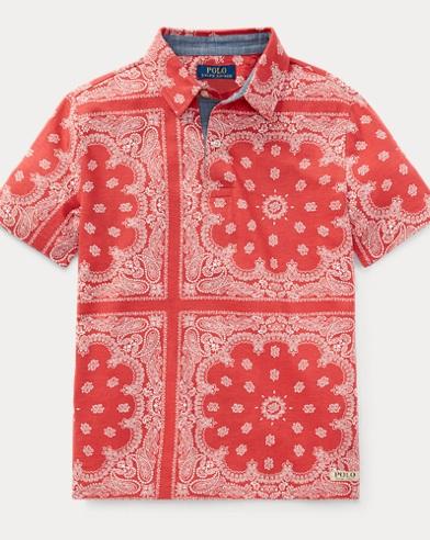 Bandanna-Print Cotton Polo