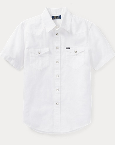 Linen-Cotton Western Shirt