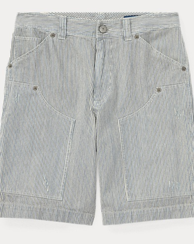 Striped Cotton Carpenter Short