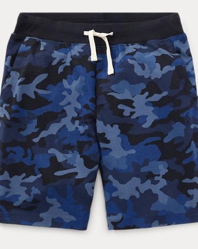 Camo Cotton Jersey Short