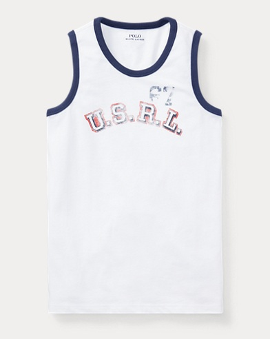 Cotton Jersey Graphic Tank Top
