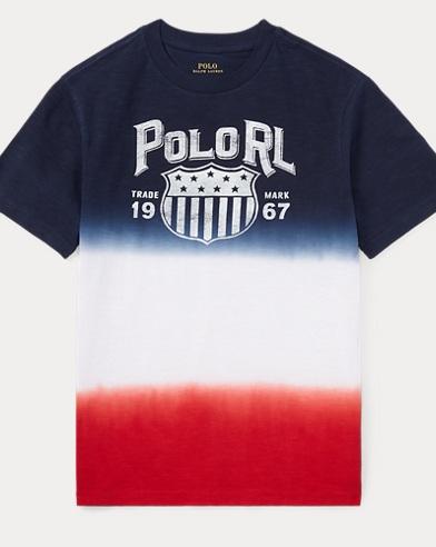 Dip-Dyed Cotton Jersey T-Shirt