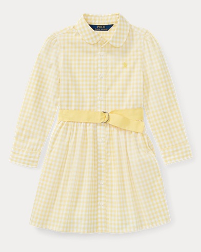 Gingham Poplin Shirtdress