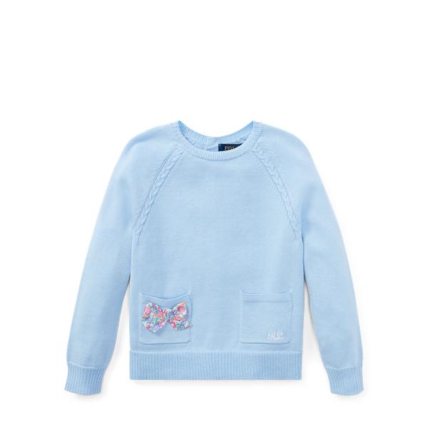 Ralph Lauren Bow-Back Cotton Sweater Elite Blue 5